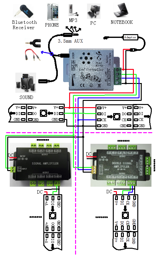 Led Spi Music Controller Built In Multiple Music