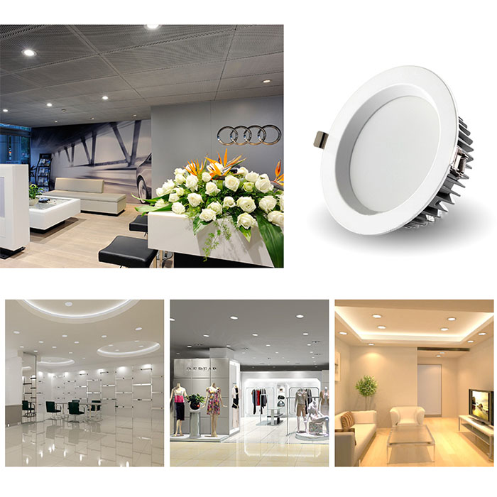 AC86-265V Dimmable CRI 85 Warm White and Daylight White 5W 2.5in - 7W 3.5in - 12W 4in - 18W 5in - 25W 6in - 30W 8in LED Downlights