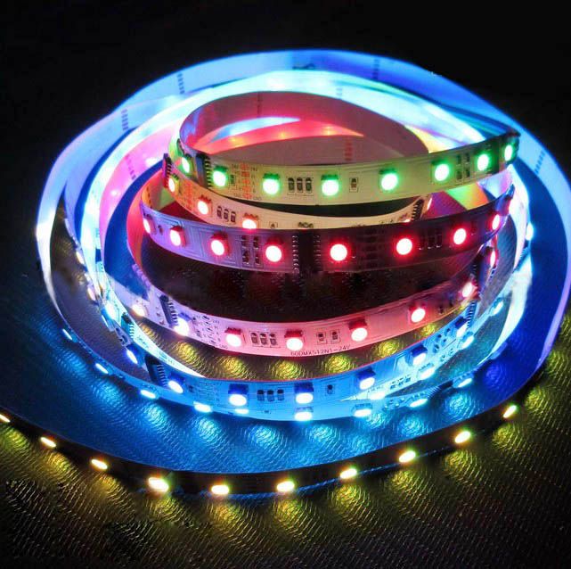 DMX512 RGB DC24V 50IC 300LEDs Dream Color Programmable Parallel signal - HTTP Breakpoint Resume Transmission Madrix Control Flex LED Strip Lights, 16.4feet/roll