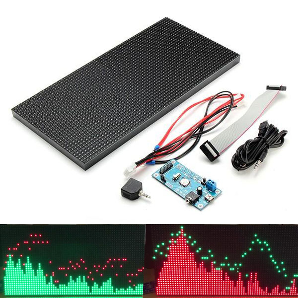 LED Music Spectrum Display Screen 6 Modes MS3264 DIY 12*6inch LED Audio Spectrum Screen Kit