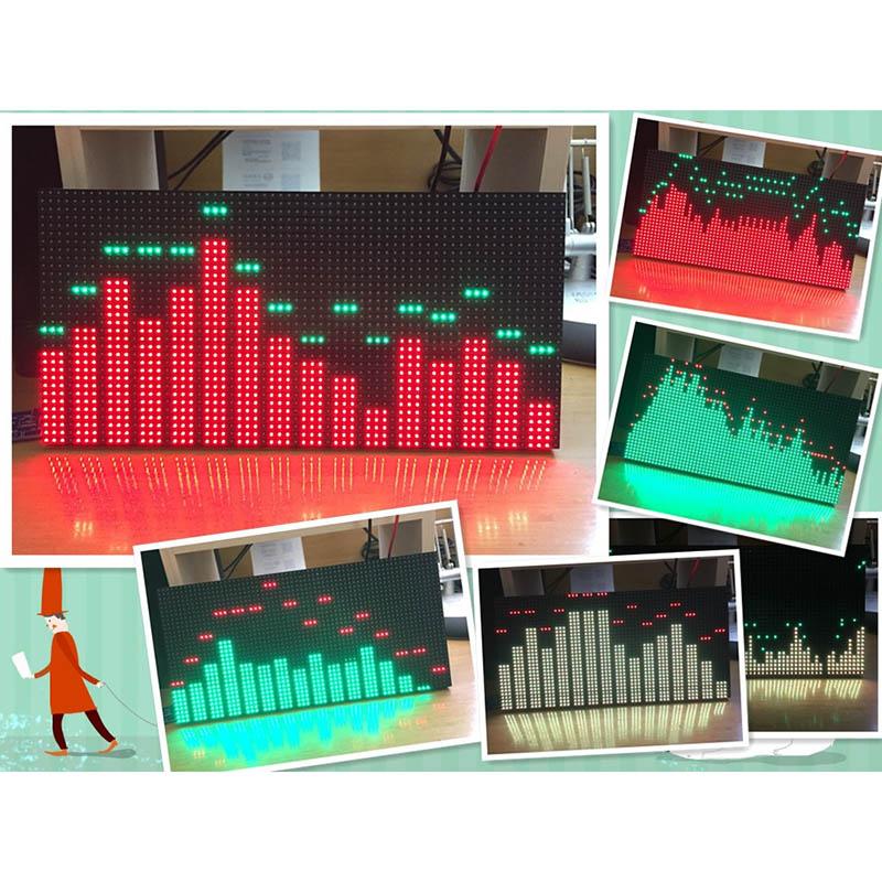 led music spectrum display screen 6 modes ms3264 diy 12 6inch led audio spectrum screen kit dc. Black Bedroom Furniture Sets. Home Design Ideas