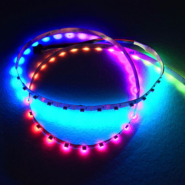 SK6812 RGB DC5V 60LEDs/m Side Emitting Addressable LED Strip Lights - 240 4020SMDs