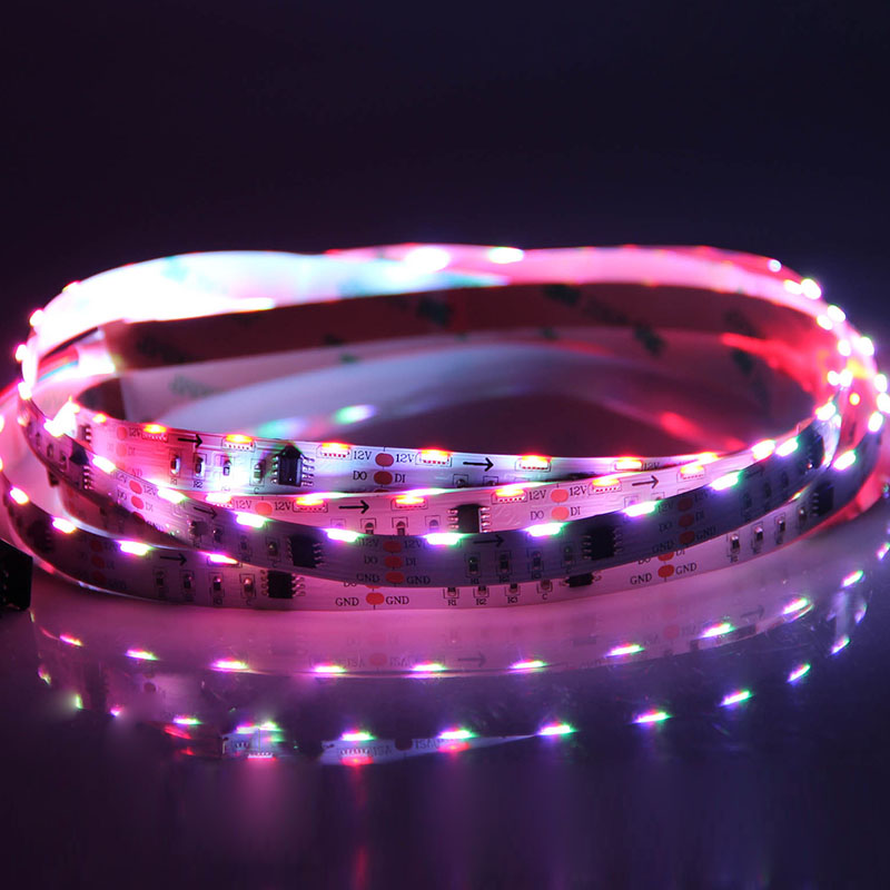 60 020SMDs/m Addressable Side Emitting LED Light Strips - 12VDC