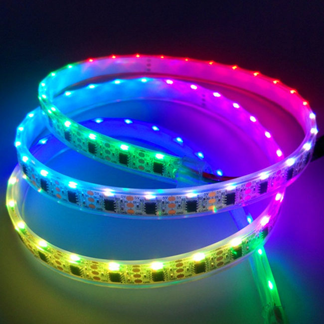 WS2811 5VDC Side Emitting Addressable LED Strip Lights - 60 020SMDs/m