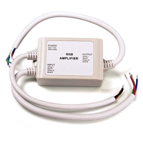 DC12/24V 4Ax3CH, ABS shell Waterproof IP67 LED RGB Data Signal Amplifier Used to Extend Color Change LED Strip Lights