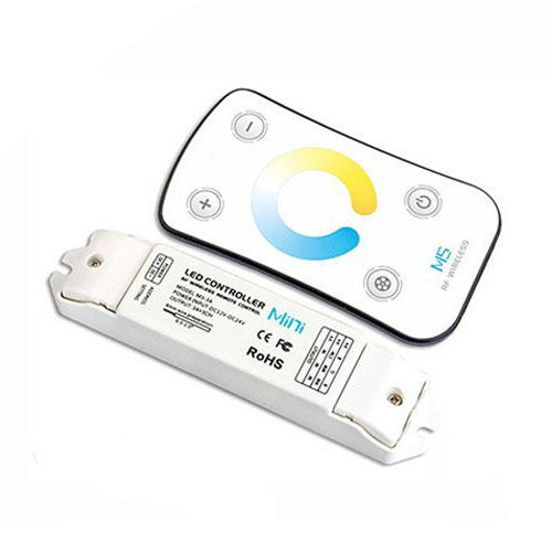 DC12/24V Max 9A 3A3CH,Touch Panel 2.4GHz wireless RF Double White touch controller warranty 5years For led lighting