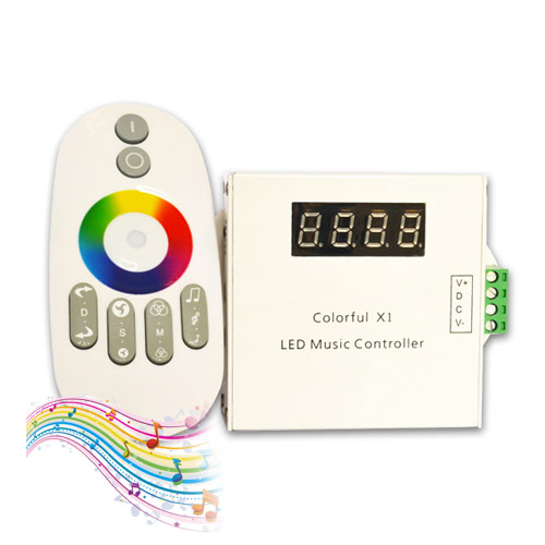 DC12/24V, Internal 33 kinds mode Aluminum Wireless RF Touch Remote Touching LED Music Controller With 3.5MM Audio For Dream Color LED Strips
