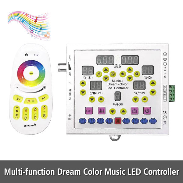 DC5-24V Multi-function Spectrum Dream Color Horse Race Music Controller - 1000 Kinds of Pattern Choice - Custiom Combination For Programmable 2811 6803 1812 1903 LED Strip Lights