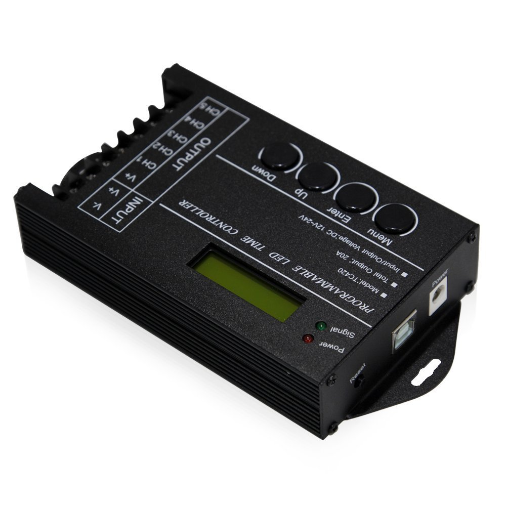 DC12/24V,20A 5 Channel Multi-function programmable LED Time Controller for RGB RGBW Single Color LED Lighting