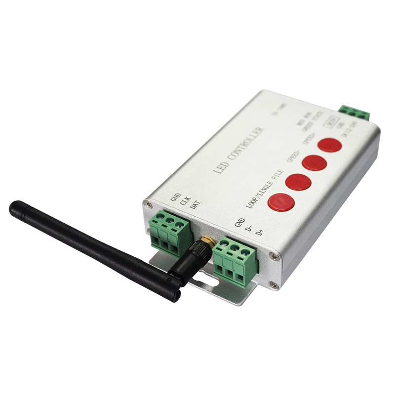 DC5-24V, LED Digital WIFI DMX512 Controller, 2048 Pixel, Controlled by APP, Can be Connect Addressable,DMX512 Programmable LED lights