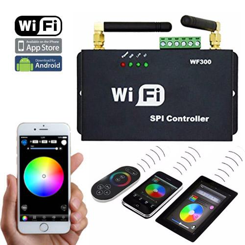Dc5 12v Wf300 Series 2 4ghz Wifi Rf Wireless Controller Control Via Smart Phone