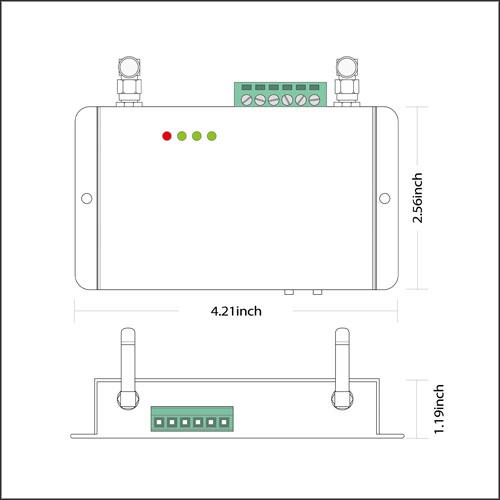 DC5/24V,WF300 Series 2.4GHz WIFI RF Wireless Controller Control Via on