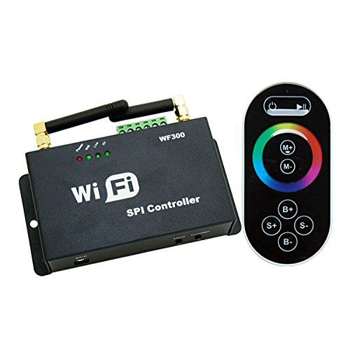 DC5/12V,WF300 Series 2.4GHz WIFI RF Wireless Controller Control Via Smart Phone Tablet PC For Programmable IC Pixel Full Color LED Lighting