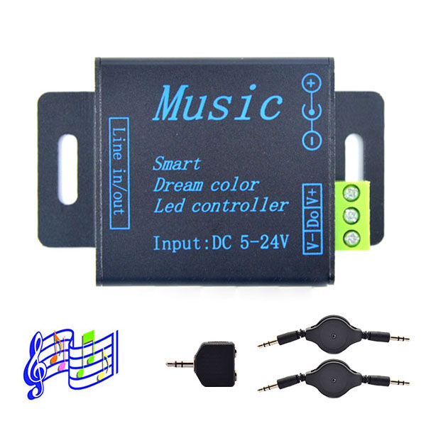 DC5/12/24V, 250pixels,M&D Music controller Smart dream color music Controller and DC5V Signal Amplifier for WS2811 WS2812B led digital lights