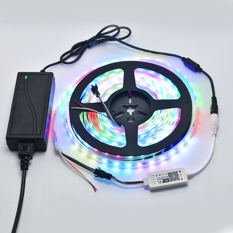 12/24VDC LED WiFi Music SPI Dream Color Addressable Controller Works with Amazon Alexa, Google Assistant