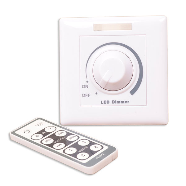 AC90-240V 500W LED Universal PWM Stepless Adjustable Brightness Light Switch Dimmer RF Wireless Remote Controller For Single color High Voltage led tape lights