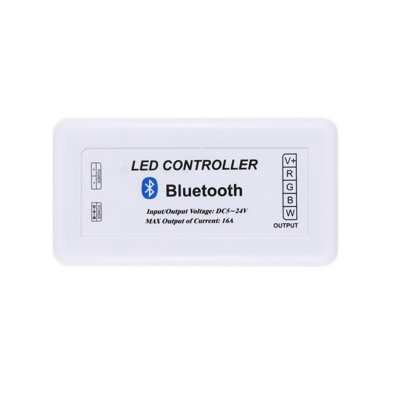 DC12/24V Max 12A, Bluetooth 4.0 WIFI Control Via IOS Android Smart Phone Tablet PC, For Single Color, CCT and RGB LED Light Strips or Modules