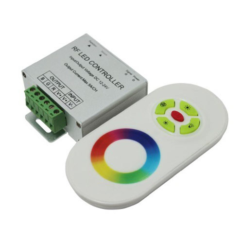 DC12/24V Max 15A 5A3CH, Touch Panel 5key LED RGB Wireless RF Remote Controller For Color Change Led Strips