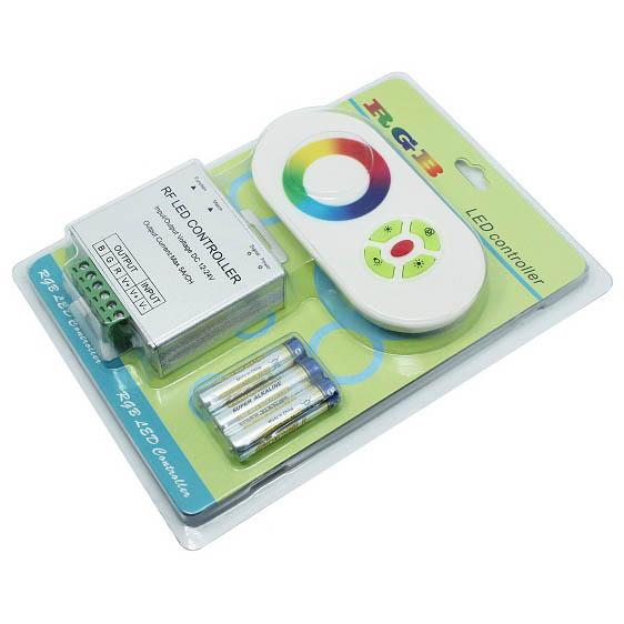 Fernbedienung Funk RF LED RGB Controller 15A Touch-Funk Steuergerät wireless
