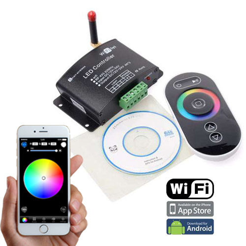 SuperLightingLED 2.4G WIFI RF Wireless Control Via IOS or Android Smart Phone Tablet PC, 4AX3CH For Single Color, Color Temperature, RGB LED Strips