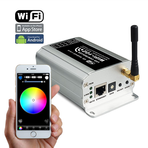 Max 18A 6A3CH, 2.4GHz WIFI RF Wireless Control Via IOS or Android Smart Phone Tablet PC with Wireless Router, For SC,CCT,RGB,RGBW LED Strips