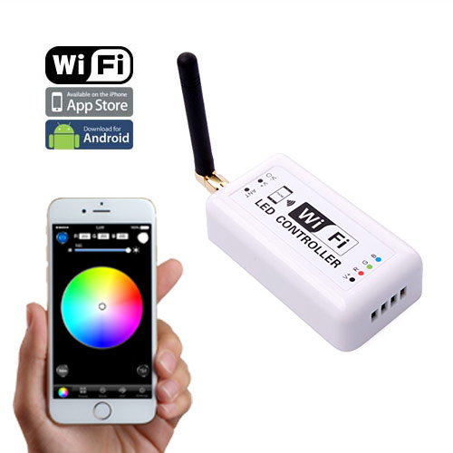 MINI 2.4GHz WIFI RF Wireless Slave Controller Control Via IOS or Android Smart Phone Tablet PC Constant Current For SC,CCT,RGB LED Strips