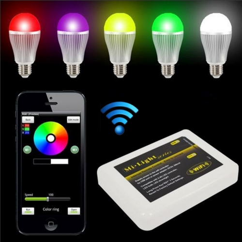 DC5V, LED WIFI controller Hub Via IOS or Android Smart Phone Tablet PC For RGB LED Lighting
