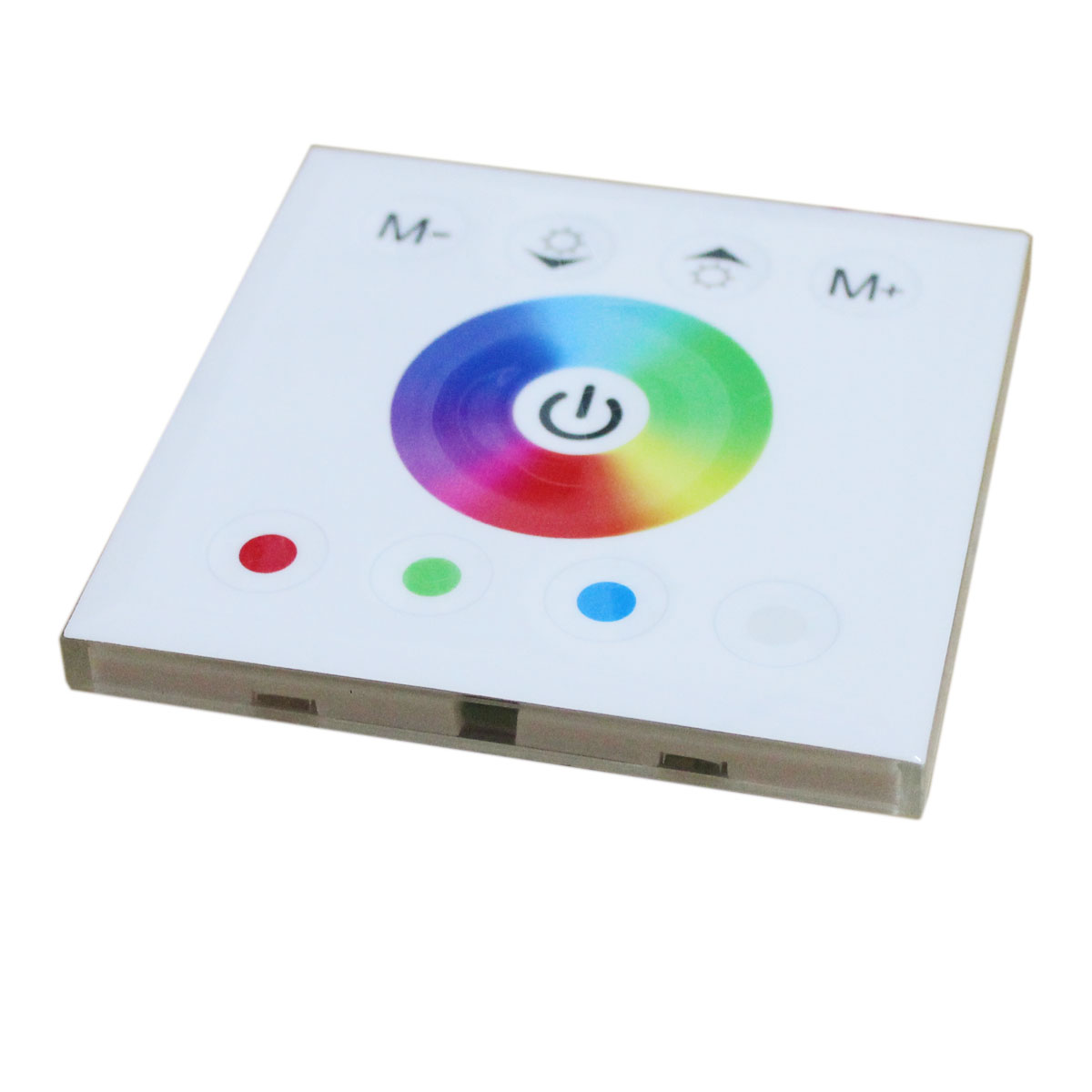 DC12/24V Max 16A 4Ax4CH, Universal Wall Mounted Acrylic LED RGBW Touch Panel Full Color Controller For 5050 RGBW Strips light