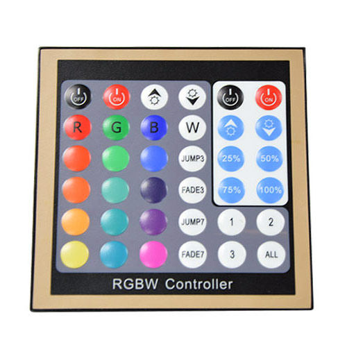 DC12/24V Max 16A 4Ax4CH, Universal Wall Install Series 36keys RF RGBW Panel DMX Controller For RGBW Strips light