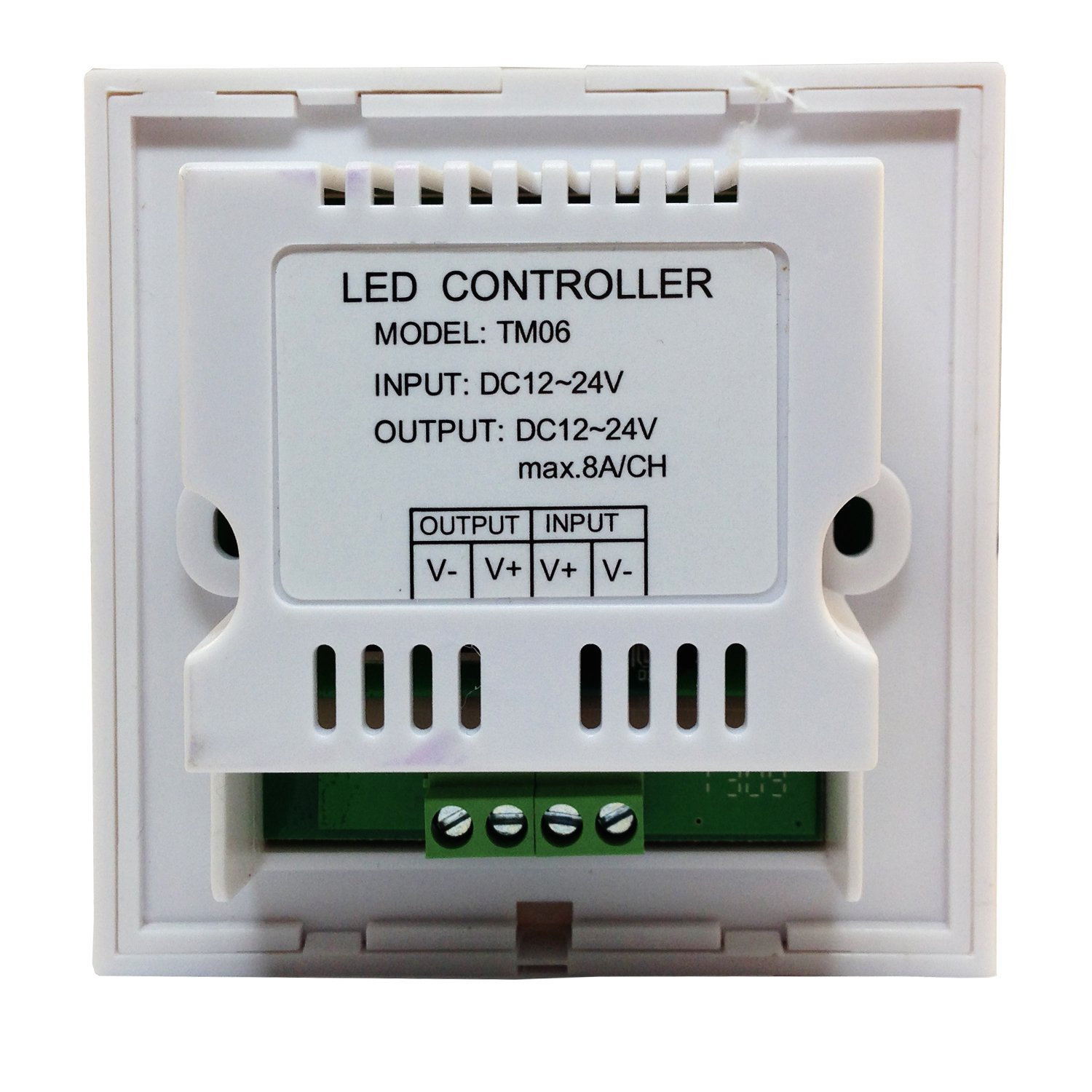 DC12/24V Max 24A 8A3CH , Wall Install Series Glass panel Dimmer Controller for single color led lighting