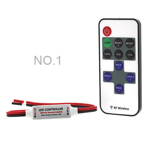 Original DC12-24V Max 12A, Universal Hot sale Wireless Remote Control dimmer controllers For Single color Led Strips lights