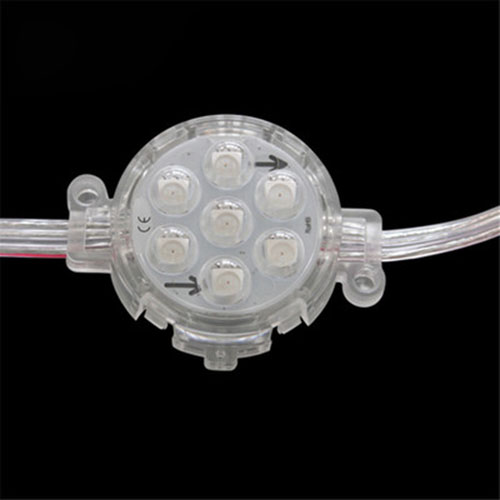 DC24V 1.7W Diameter 0.16feet 7LEDs UCS1903 Outdoor Waterproof External control Strobe Full Color Digital Programmable DMX Addressable LED Colorful Pixel Moudles String