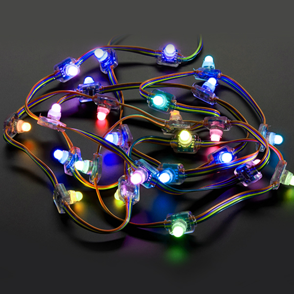 DC5V 0.3W WS2811 Outdoor Full Color Digital Programmable DMX Addressable Diffused Dot Matrix Square LED Colorful Pixel Moudles String