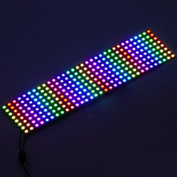 DC5Volt 1x0.26feet SMD5050 WS2811 WS2812B Full Color Digital Programmable Flexible led Digital Panel Lights Built-in 256 Pixel Dot Matrix Display