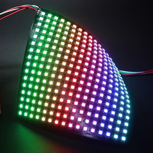 DC5Volt 0.5x0.5feet SMD5050 WS2811 WS2812B Full Color Digital Programmable Flexible led Digital Panel Lights Built-in 256 Pixel Dot Matrix Display