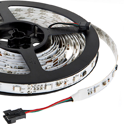 UCS1903 DC12V Series Flexible LED Strip Lights, Programmable Pixel Full Color Chasing, Indoor Use, 150LEDs 16.4ft Per Reel By Sale