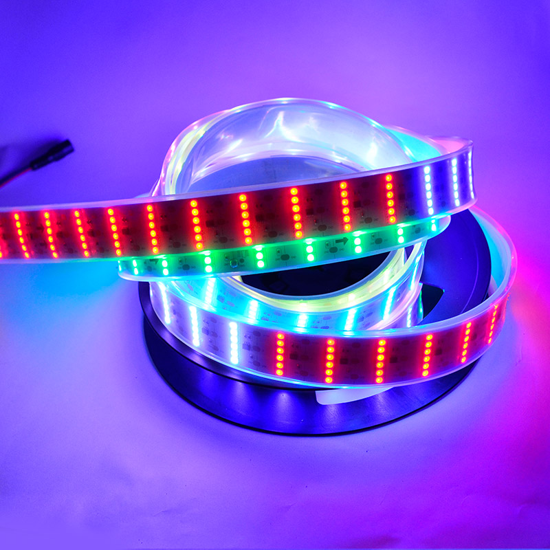 Six rows color chasing rgb dream color led strip lights dc12v six rows color chasing rgb dream color led strip lights dc12v flexible led tape light with 55leds per feet for holiday lighting mozeypictures Images