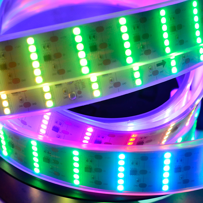 Six rows color chasing rgb dream color led strip lights dc12v six rows color chasing rgb dream color led strip lights dc12v flexible led tape light with 55leds per feet for holiday lighting aloadofball Image collections