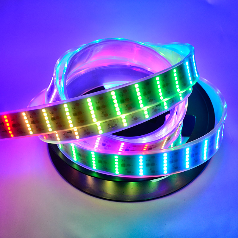 Six Rows Color Chasing RGB Dream Color LED Strip Lights, DC12V, Flexible LED Tape Light with 55LEDs per feet. - For Holiday lighting