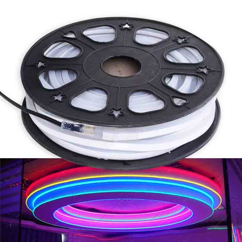 DC24V 65 Feet Flexible LED Neon Tube Light Waterproof IP67 TM1812 Dream Color Programmable Flex LED Strip Lights For luminous characters