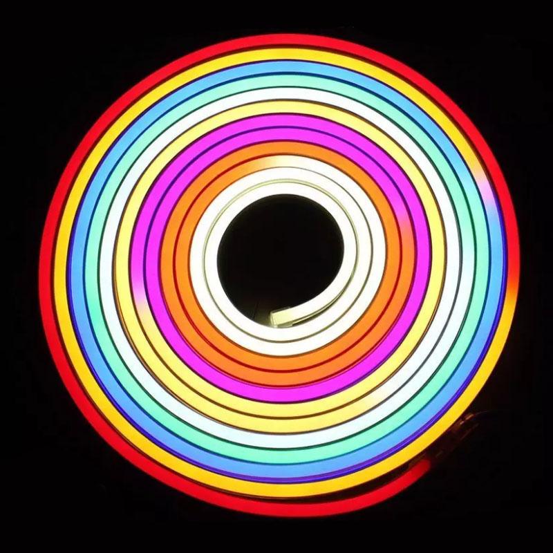 dc24v 65 ft flexible led neon tube light waterproof ip67 tm1812 dream color programmable flex. Black Bedroom Furniture Sets. Home Design Ideas