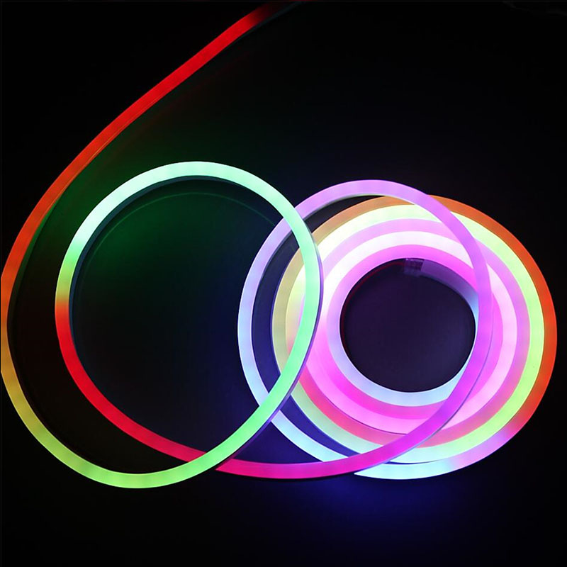 DC24V 65 Ft Flexible LED Neon Tube Light Waterproof IP67 TM1812 Dream Color  Programmable Flex LED Strip Lights For Luminous Characters