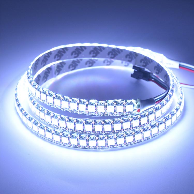 WS2811 DC5/12V Programmable LED Strip Lights, Addressable Digital Full Color Chasing Flexible LED Strips, Indoor Use, 288LEDs 6.56ft Per Reel By Sale