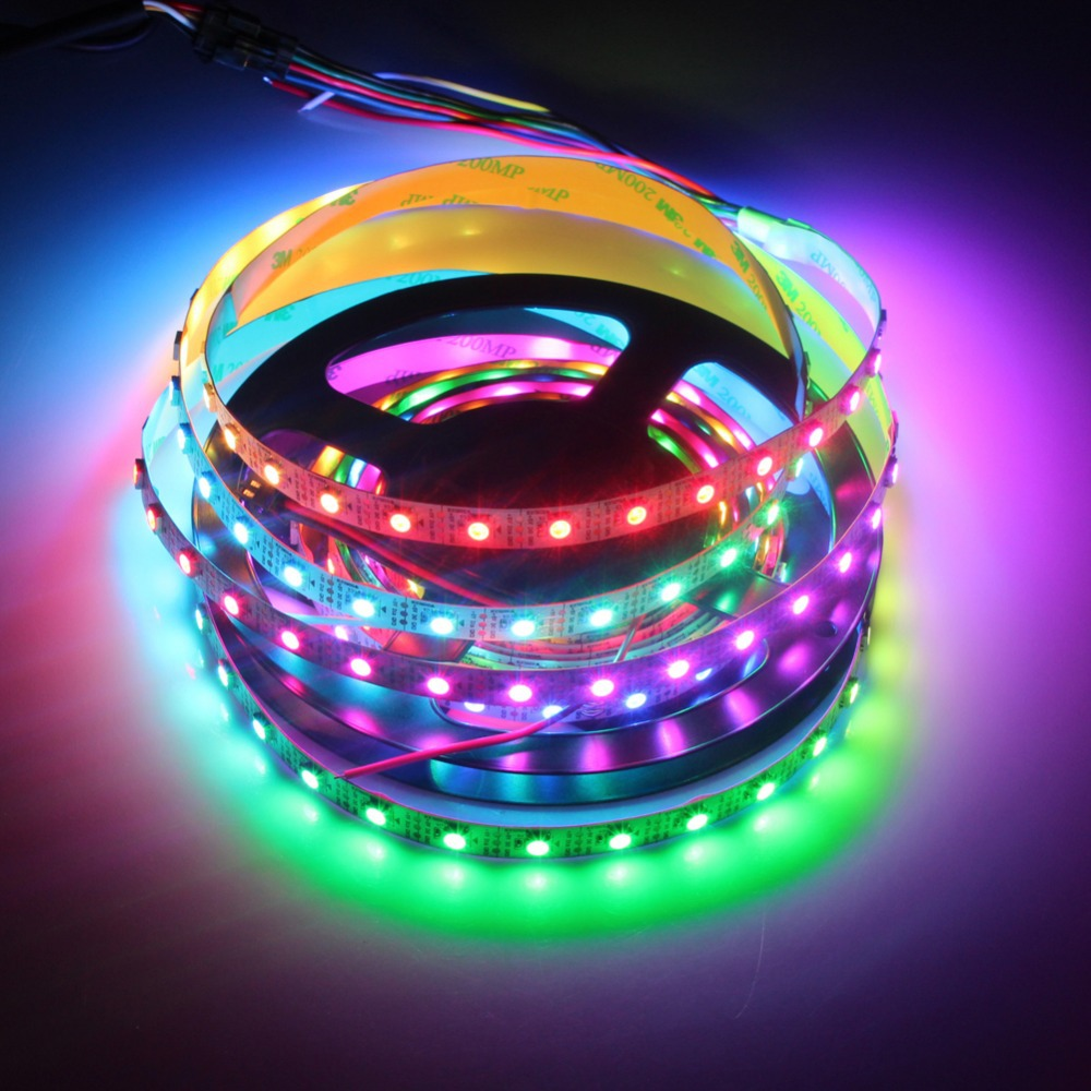 WS2812B DC5V Series Flexible LED Strip Lights, Programmable Pixel Full Color Chasing, Indoor Use, 300LEDs 16.4ft Per Reel By Sale