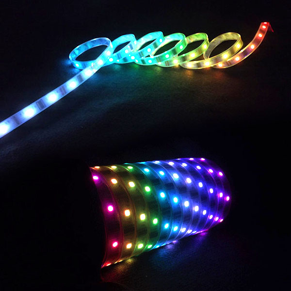 LPD6803 DC12V Series Flexible LED Strip Lights, Programmable Pixel Full Color Chasing, Outdoor Waterproof IP67, 150LEDs 16.4ft Per Reel By Sale