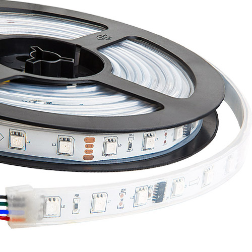 TM1812 DC12V Series Flexible LED Strip Lights, Programmable Pixel Full Color Chasing, Outdoor Waterproof IP67, 300LEDs 16.4ft Per Reel By Sale