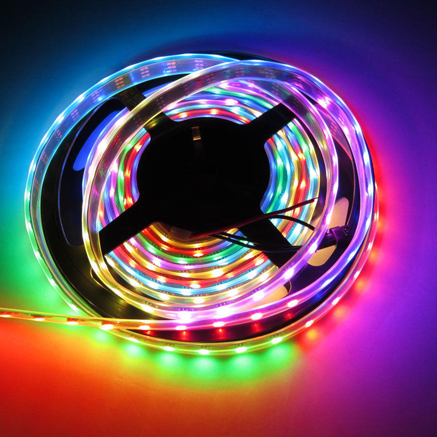 Ws2811 dc512v programmable led strip lights addressable digital ws2811 dc512v programmable led strip lights addressable digital full color chasing flexible led strips outdoor waterproof 150leds 164ft per reel by aloadofball Image collections