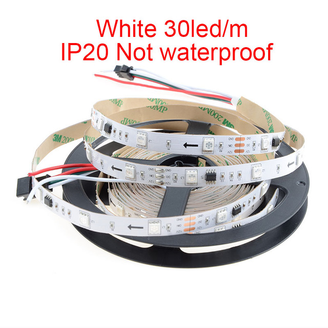 WS2811 DC5/12V Programmable LED Strip Lights, Addressable Digital Full Color Chasing Flexible LED Strips, Outdoor Waterproof, 150LEDs 16.4ft Per Reel By Sale