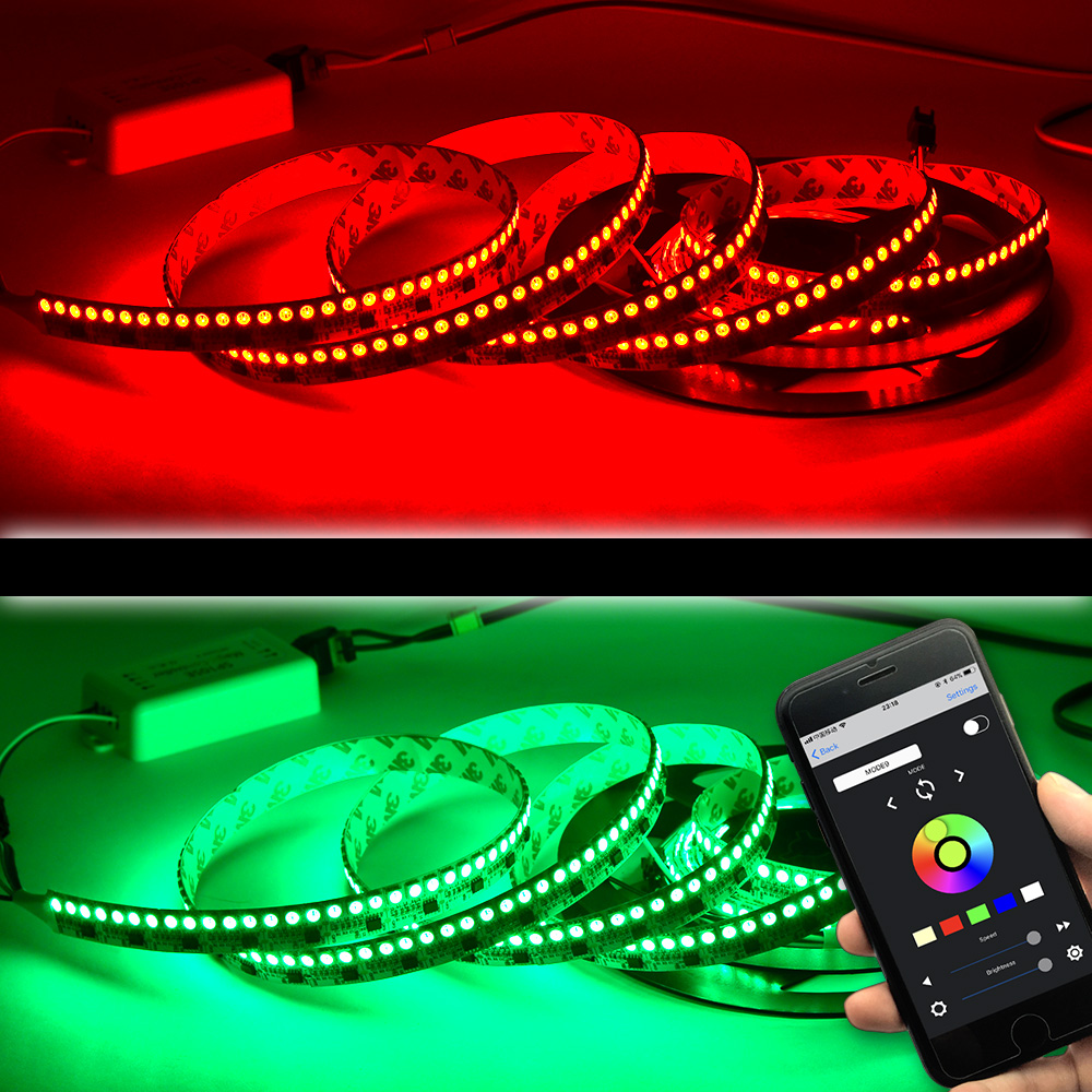 Ws2811 dc12v 44ledsft programmable led strip lights addressable ws2811 dc12v 44ledsft programmable led strip lights addressable flexible led light strips led christmas holiday lights288leds 565ft per roll aloadofball