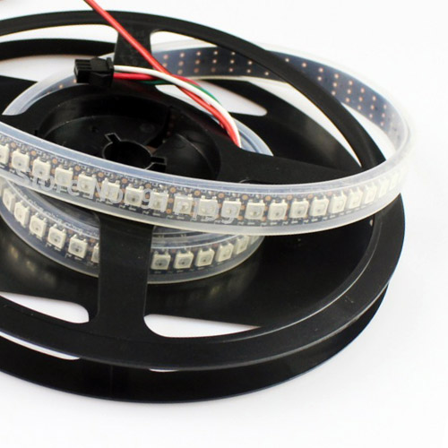 WS2811 DC5/12V Programmable LED Strip Lights, Addressable Digital Full Color Chasing Flexible LED Strips, Outdoor Waterproof, 288LEDs 6.56ft Per Reel By Sale